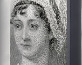 Canvas 24x36; Jane Austen 1870 Cropped