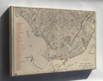 Canvas 24x36; Map Of Rio De Janeiro Brazil 1941