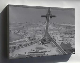 Canvas 16x24; 14Th Street Bridge 1932