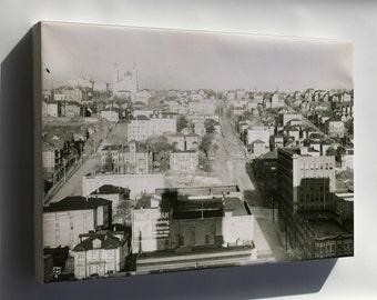 Canvas 16x24; Seattle Washington- Looking Up Cherry Street Circa 1911