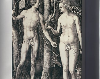 Canvas 16x24; Albrecht Durer Adam And Eve Fqg5 68Yda1Jqw