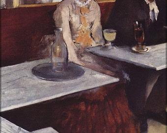 16x24 Poster; L'Absinthe, 1876, Oil On Canvas, By Edgar Degas