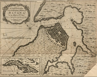 16x24 Poster; Map Of Havana, Cuba 1762