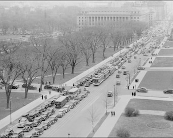 16x24 Poster; Aerial View Of A Traffic Jam, 14Th Street And The Mall, Washington, D.C, 04 1937 Nara 513342