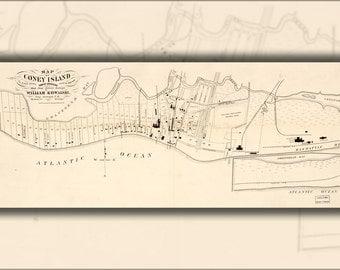 16x24 Poster; Map Of Coney Island, Gravesend, New York 1879