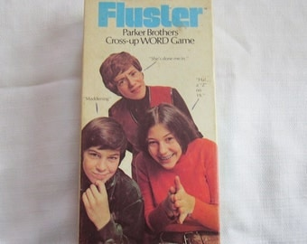 Vintage 1973 Game Fluster by Parker Brothers-Word Game-COMPLETE