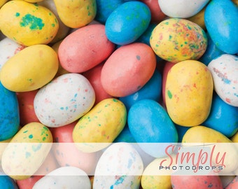 5' x 5' Spring Sale, speckled eggs multi colored  vinyl Photography Backdrop