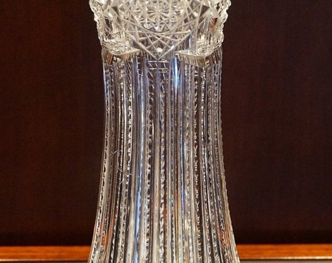 J. Hoare Cut Glass Vase - 1910
