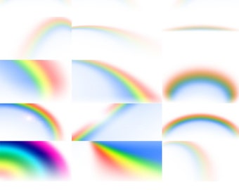 15 PNG Rainbow Overlays For Photoshop And Photoshop Elements (and other layers based programs). Transparent PNG