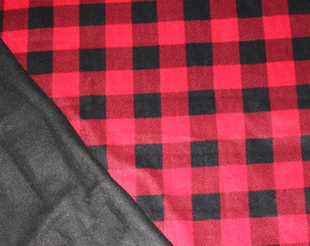Red and Black Checkered Fleece Tie Blanket
