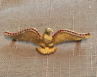 Vintage Eagle Military-style Brooch