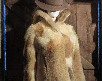 French Vintage Fur Waist Coat by 'Charles Maugein Fourrures' /Tulle-Brive/