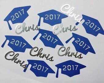 Personalized Graduation Caps and Names Confetti