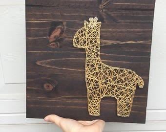 Made to Order: String art giraffe- zoo nursery decor