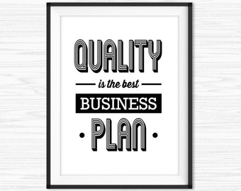 Success Quotes Office Wall Art Printable lnspirational Quotes Motivational Wall Decor Cubicle Decor Customer Service Quotes Quality Business