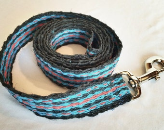 5 foot hand woven and dyed hemp dog leash