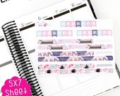 A24J Hello Love Bottom Washi and Weekend Banner Stickers!  Perfect for the Erin Condren Planner!!!!