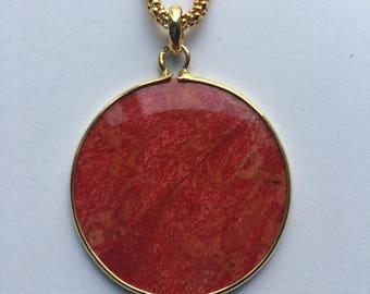 Fine Silver Coral Necklace