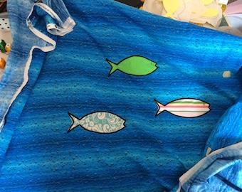 applique fish design