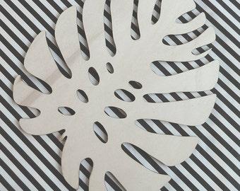 Monstera Wood Leaf lasercut