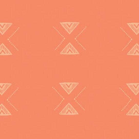 Boppy Cover >> Garden Dreamer Triangular in Orange >> Boppy Newborn Lounger Nursing Pillow >MADE-to-ORDER arrow boppy, orange diamond boppy
