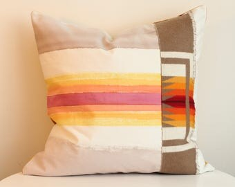 Penny 2R - Hand Painted / Hand Crafted Accent Cushion Cover
