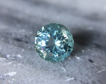 3.89ct Icy Blue Precision Cut Tourmaline Round