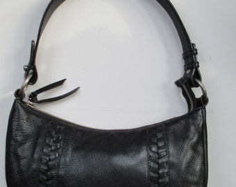 Ralph Lauren Black Leather Shoulder Handbag
