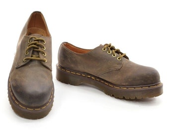 Dr. Martens Oxfords Men UK 6 / US 7 Made in England 1561 4 Eye Gibson Brown Leather