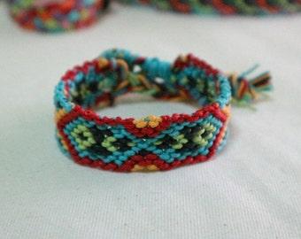 Friendship bracelet handmade, colorful boho bracelet, handmade friendship bracelet with bohemian style