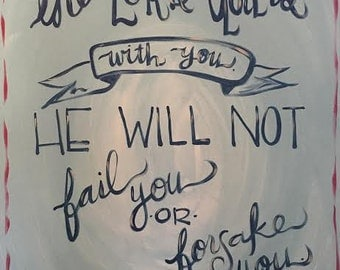 He will not fail you