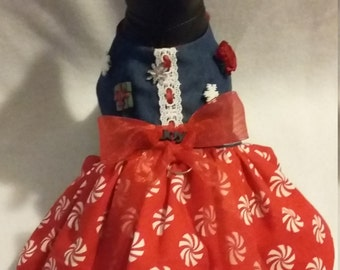 Christmas dog dress, Christmas dog outfit, Fancy dog dress