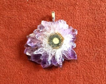 Extremely Rare Amethyst Stalactite Pendant
