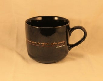 "Benson and Hedges Coffee Cup Mug Mark Twain Quote ""It has always been my rule to smoke when asleep and never refrain when awake."" Gift"