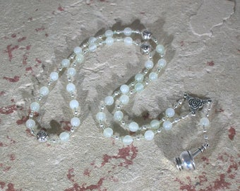 Airmid Prayer Beads in Green Fluorite: Irish Celtic Goddess of Herbs and Healing