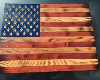 Flag, American flag, Wooden American Flag, rustic flag, Distressed American flag, USA flag, burnt flag,