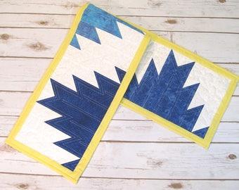 Table Decor Quilt - Quilt Table Runner - Patchwork Quilt - Quilted Table Topper - Handmade Quilt - Table Centerpiece - Summer Decor - Quilt