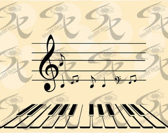 0669_Music, Piano Vector, Key Salt,SVG,DXF,ai, png, eps, jpg,Download files, Digital, graphical