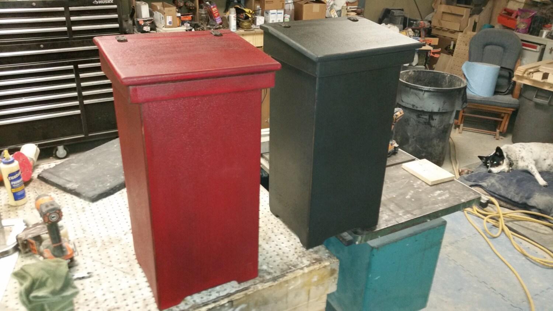 tall kitchen garbage can wooden lift top trash by bkrwoodworks. Black Bedroom Furniture Sets. Home Design Ideas