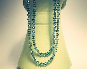 Green Necklace, Green Jewelry, Double Strand, Layered Necklace, Magnetic Clasp, Ladies Gift, Mother of the Bride, Gift for Her, Statement
