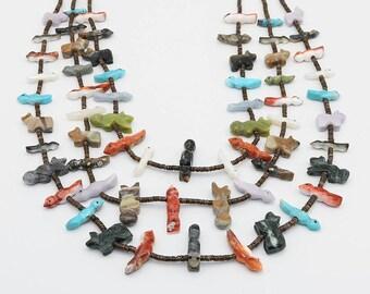 native american jewelry,zuni jewelry,turquoise,zuni fetish necklace,zuni fetish, native, Zuni Fetish Necklace by Nancy & Sheldon Westika