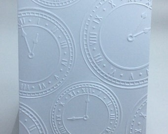 Embossed Clocks Card Set