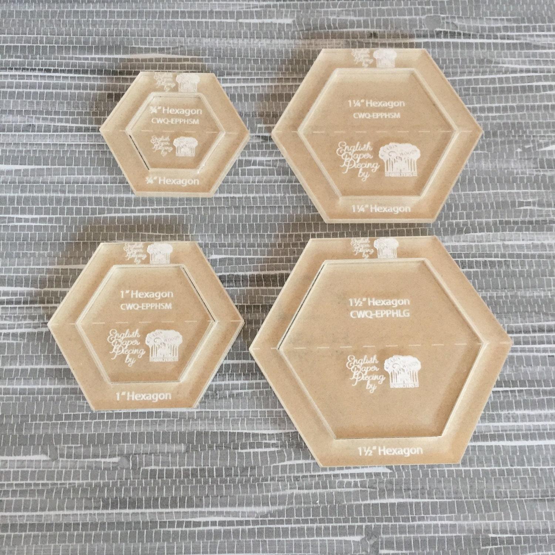 free english paper piecing hexagon templates - hexagon small set english paper piecing template