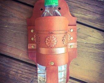 Leather bottle holster