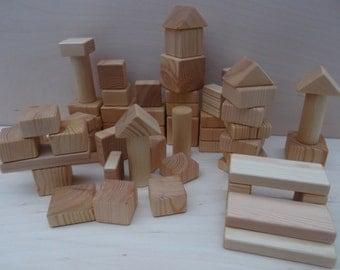 Wooden blocks, Building blocks, Handmade wooden blocks, Children wooden toys, Children's Gift, Christmas gift, Wooden toy, Baby blocks, Gift