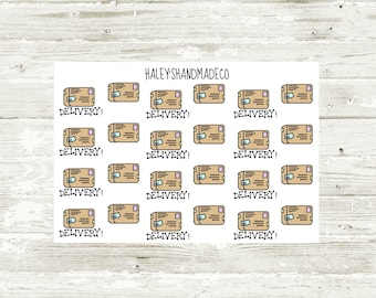 Delivery Boxes Stickers (hand drawn)