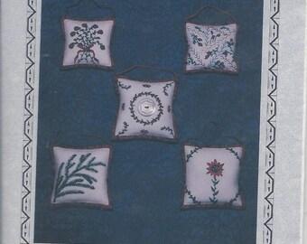Silk Ribbon Christmas Ornaments pattern by Closet Treasures OOP