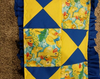 Crib quilt and pillow