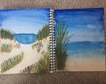 Set of two beach watercolor