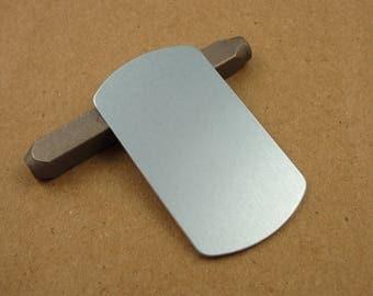 Dog Tag Aluminum Stamping Blanks, 14 Ga Thick, 1100 Aluminum